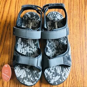 SO Boys Gray Sandals Flexible Outsole Size 4 Med